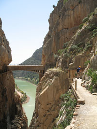 Bridge over El Chorro Gorge