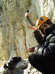 Sports climbing in southern Spain