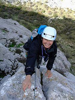 Learning to trad climb in Spain