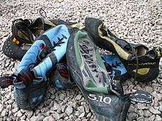 Rock boots for climbing