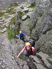 Scrambling course in the Glyders