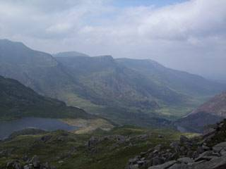 Snowdonia landscape - view across Glyders