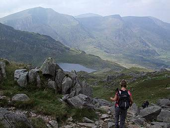 View across the Glyders in Snowdonia